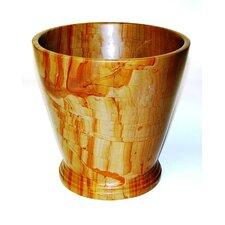 Waste Basket in Teakwood Marble
