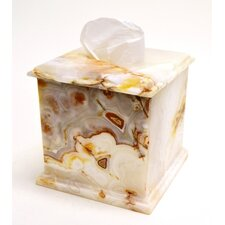 White Onyx Tissue Holder