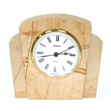 Teakwood Marble Clock