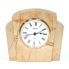 Teakwood Marble Clock