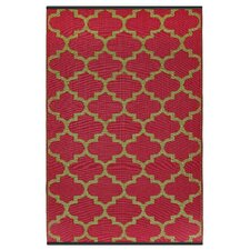 World Tangier Pinkberry/Bronze Indoor/Outdoor Rug