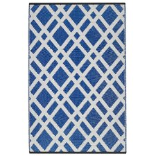World Dublin Dazzling Blue/White Indoor/Outdoor Rug