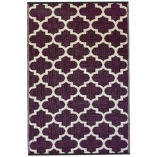 World Tangier Plum/White Indoor/Outdoor Rug