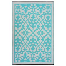<strong>Fab Rugs</strong> World Venice Cream/Turquoise Rug