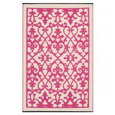 World Venice Cream/Pink Indoor/Outdoor Rug