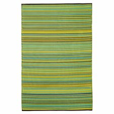World Cancun Lemon/Apple Indoor/Outdoor Area Rug