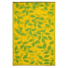 World Bali Lemon Yellow/Moss Green Indoor/Outdoor Rug
