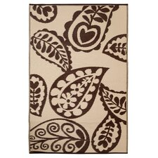 Paisley Chestnut/Cream World Indoor/Outdoor Rug