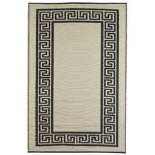 World Athens Black/Cream Indoor/Outdoor Rug