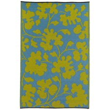 World Oslo Turquoise/Lemon Yellow Indoor/Outdoor Rug