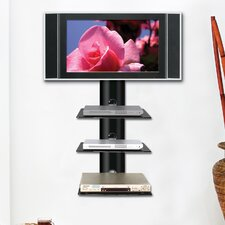 <strong>Ready Set Mount</strong> Monte Carlo Triple Wall-Mount Shelf System in Hi-Gloss Black