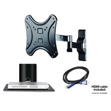 "Home Entertainment Bundle 2 Extending Arm/Tilt/Swivel Wall Mount for 13"" - 37"" Flat Panel Screens"