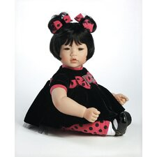 "<strong>Adora Dolls</strong> Baby Doll ""Black Velvet"" Black Hair / Brown Hair"