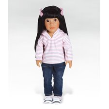 Girl Play Doll Ava Ready for Fun - Black Brown Eyes