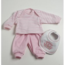 Baby Doll Accessories 3 Pieces Play Set in Pink