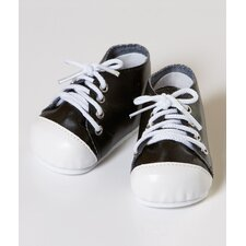 "20"" Doll Tennis Shoes in Black / White"