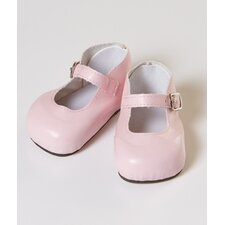 "20"" Doll Mary Jane Shoes in Pink"