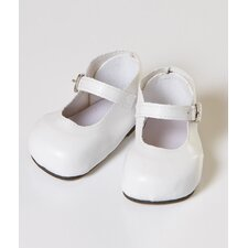 "20"" Doll Mary Jane Shoes in White"