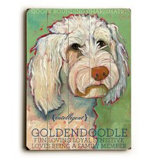 Goldendoodle Wood sign