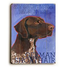 German Shorthair Wood Sign