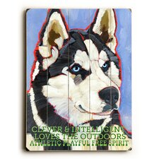 Siberian Huskie Wood Sign