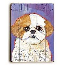 Shih Tzu Wood Sign