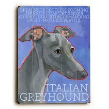 Italian Greyhound Wood Sign