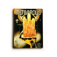 "Metropolis Planked Wood Sign - 20"" x 14"""