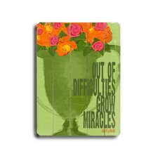 Miracles Graphic Art Plaque