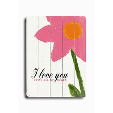 Love You Graphic Art Plaque