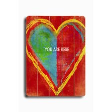 "<strong>Artehouse LLC</strong> Heart-You are Here Wood Sign - 12"" x 9"""