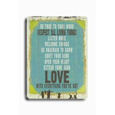 "<strong>Artehouse LLC</strong> Love Is Everything You'Ve Got Planked Wood Sign - 20"" x 14"""