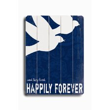 "<strong>Artehouse LLC</strong> Happily Forever Planked Wood Sign - 20"" x 14"""