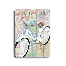 "Life Is A Trip Planked Wood Sign - 20"" x 14"""