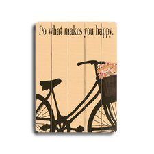"<strong>Artehouse LLC</strong> Do What Makes You Happy Wood Sign - 12"" x 9"""