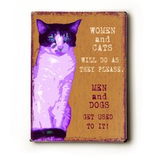 Women and Cats Textual Art Plaque