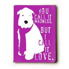 You Call It Madness Textual Art Plaque