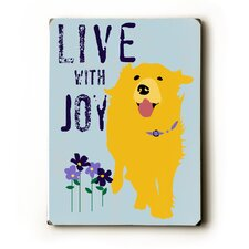 Love With Joy Textual Art Plaque