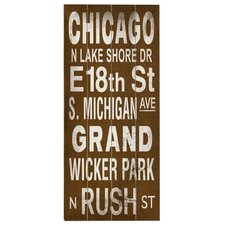 Chicago Transit Wood Sign