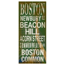 Boston Transit Textual Art Plaque
