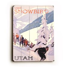 Snowbird Utah Vintage Advertisement Plaque