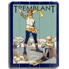 Tremblant Vintage Advertisement Plaque