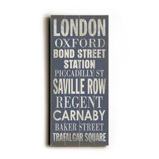 London Transit Textual Art Plaque