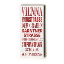 Vienna Transit Textual Art Plaque