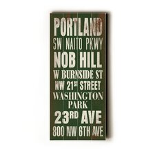 Portland Transit Wood Sign