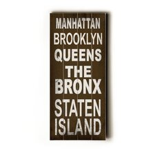 Manhattan Transit Textual Art Plaque
