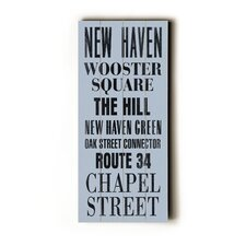New Haven Transit Wood Sign