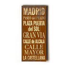 Madrid Transit Textual Art Plaque