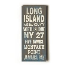 Long Island Transit Textual Art Plaque