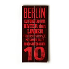 Berlin Transit Textual Art Plaque